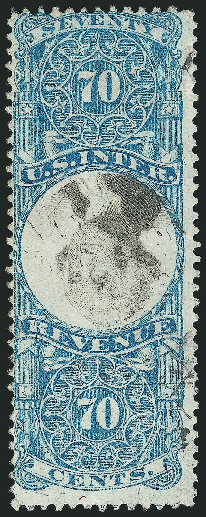 US Stamps Values Scott Cat. R117 - 70c 1871 Revenue Documentary . Robert Siegel Auction Galleries, Apr 2015, Sale 1096, Lot 987