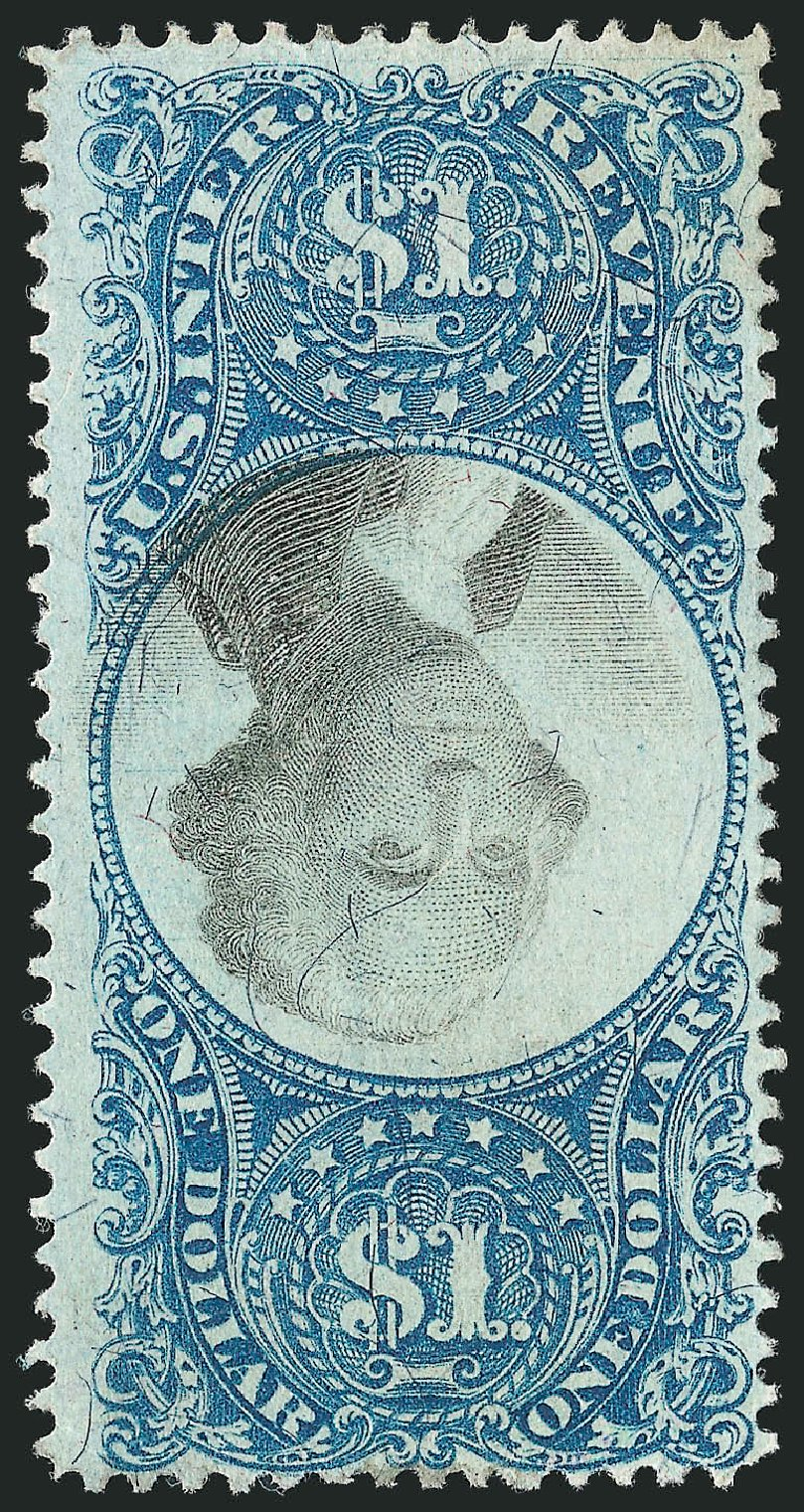 US Stamp Price Scott #R118 - US$1.00 1871 Revenue Documentary . Robert Siegel Auction Galleries, Dec 2014, Sale 1089, Lot 488