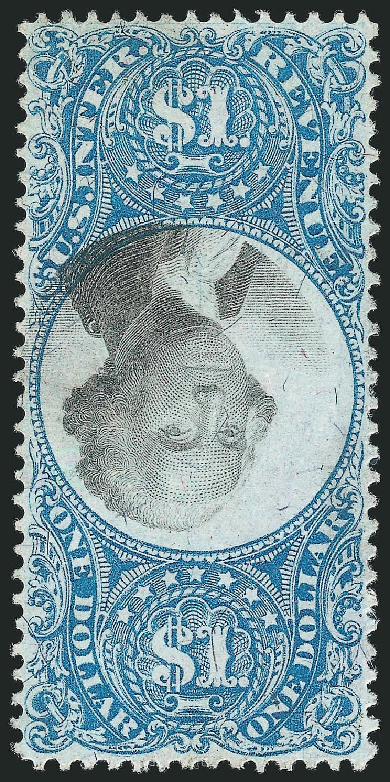 Values of US Stamp Scott Cat. #R118: US$1.00 1871 Revenue Documentary . Robert Siegel Auction Galleries, Feb 2015, Sale 1092, Lot 1508