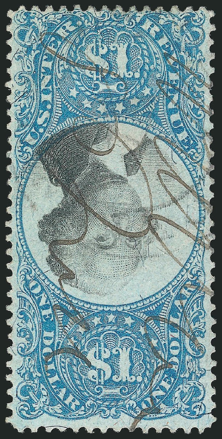 US Stamps Prices Scott # R118: US$1.00 1871 Revenue Documentary . Robert Siegel Auction Galleries, Apr 2015, Sale 1096, Lot 988