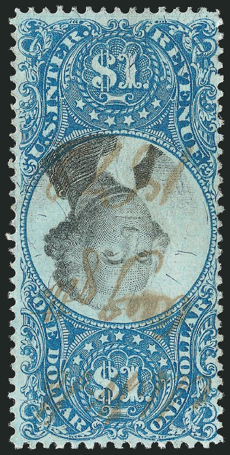 Value of US Stamp Scott Cat. # R118: 1871 US$1.00 Revenue Documentary . Robert Siegel Auction Galleries, Dec 2014, Sale 1089, Lot 489