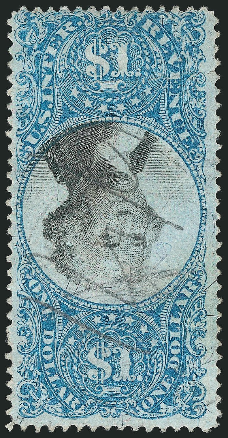 US Stamps Price Scott # R118: 1871 US$1.00 Revenue Documentary . Robert Siegel Auction Galleries, Dec 2012, Sale 1037, Lot 2401