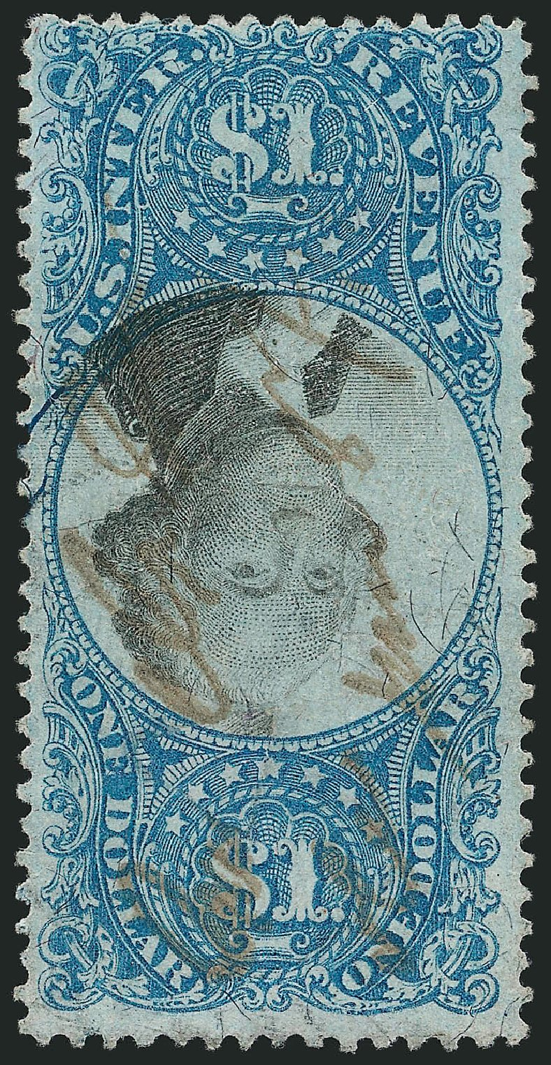Cost of US Stamps Scott Catalog #R118: US$1.00 1871 Revenue Documentary . Robert Siegel Auction Galleries, Mar 2014, Sale 1067, Lot 563
