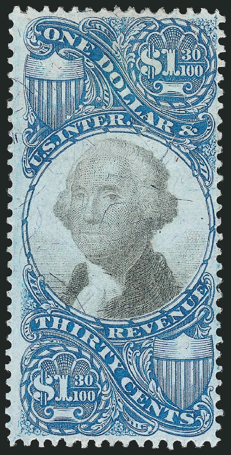 Value of US Stamps Scott Cat. # R119: 1871 US$1.30 Revenue Documentary . Robert Siegel Auction Galleries, Oct 2012, Sale 1031, Lot 1037