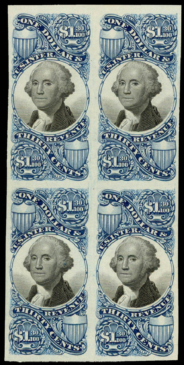 US Stamps Prices Scott Cat. #R119 - 1871 US$1.30 Revenue Documentary . Daniel Kelleher Auctions, May 2015, Sale 665, Lot 169