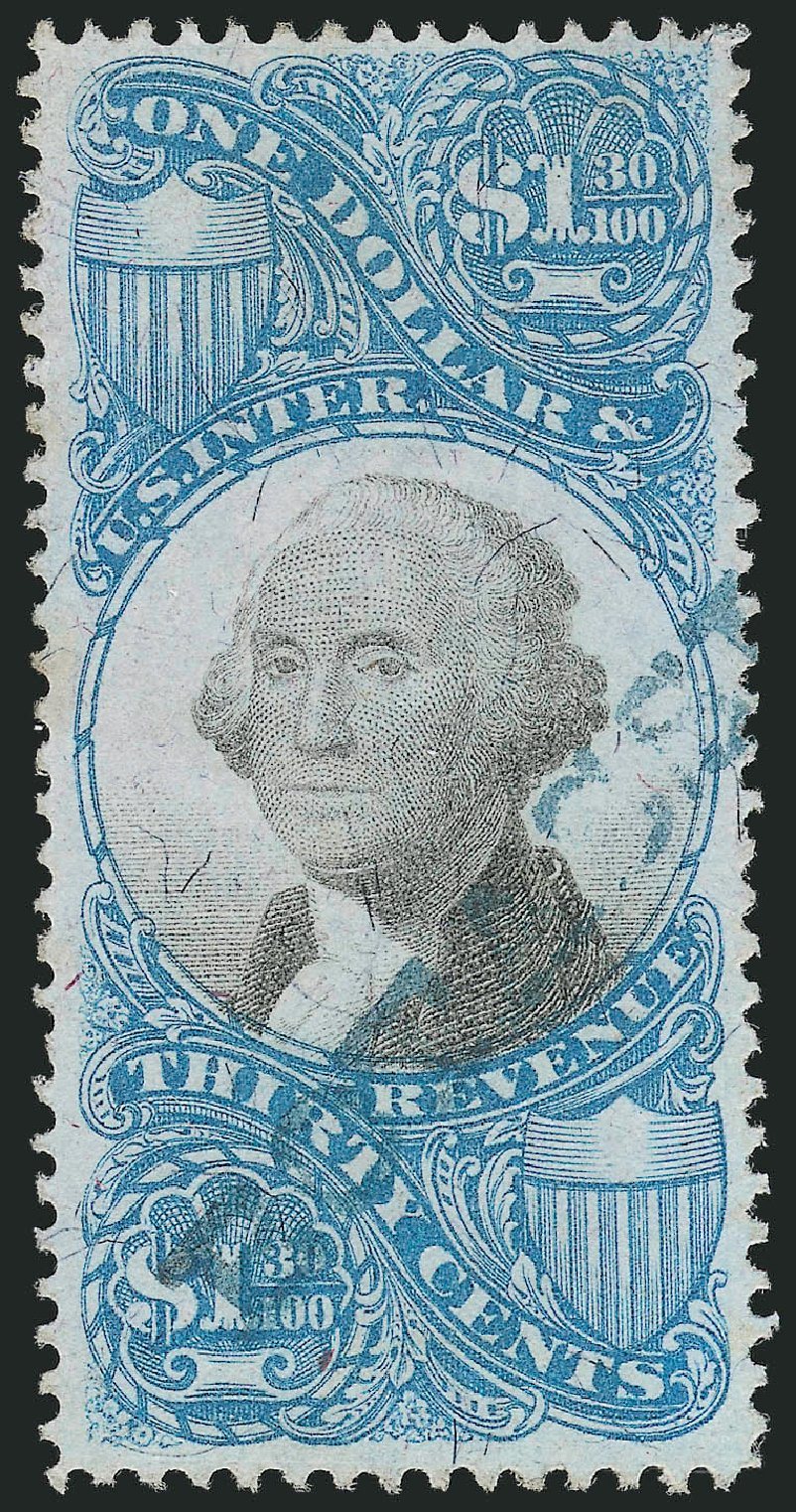 US Stamp Prices Scott # R119 - US$1.30 1871 Revenue Documentary . Robert Siegel Auction Galleries, Mar 2014, Sale 1066, Lot 79
