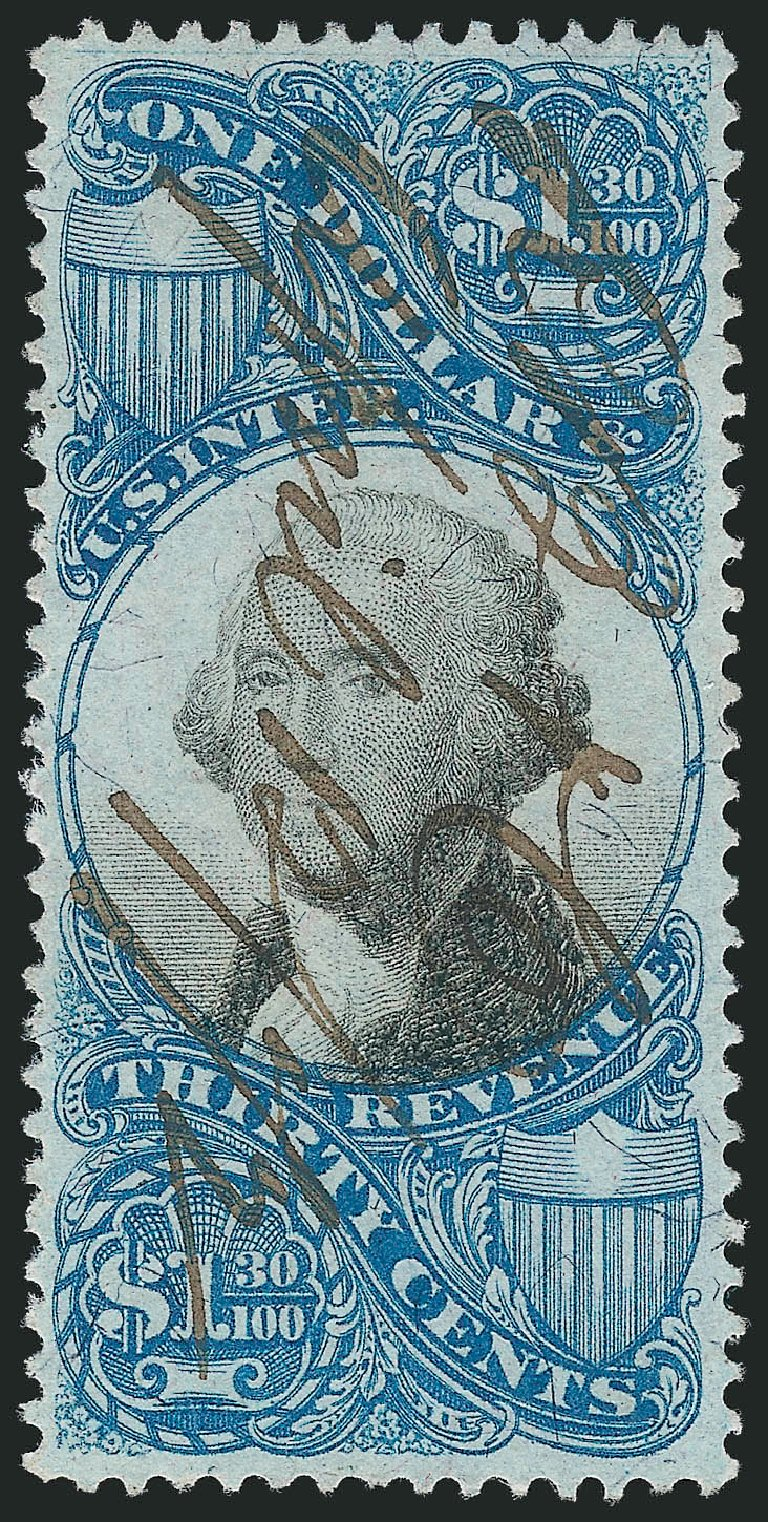 Cost of US Stamps Scott Cat. R119 - 1871 US$1.30 Revenue Documentary . Robert Siegel Auction Galleries, Feb 2015, Sale 1092, Lot 1509