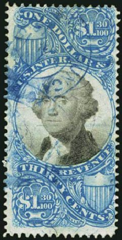 Costs of US Stamps Scott # R119 - 1871 US$1.30 Revenue Documentary . Harmer-Schau Auction Galleries, May 2012, Sale 93, Lot 501