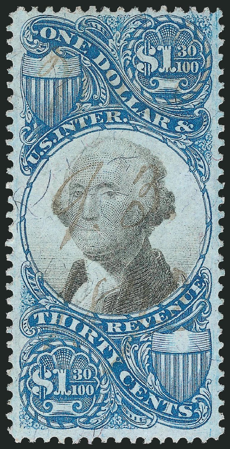 Values of US Stamps Scott Catalogue R119 - US$1.30 1871 Revenue Documentary . Robert Siegel Auction Galleries, Nov 2011, Sale 1015, Lot 81