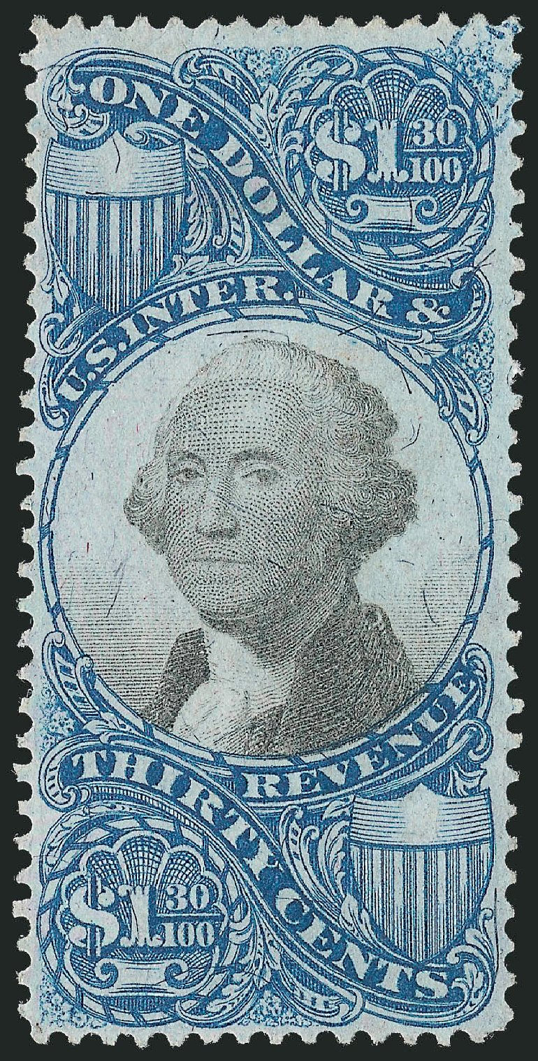 Value of US Stamp Scott Cat. # R119: 1871 US$1.30 Revenue Documentary . Robert Siegel Auction Galleries, Mar 2014, Sale 1067, Lot 551