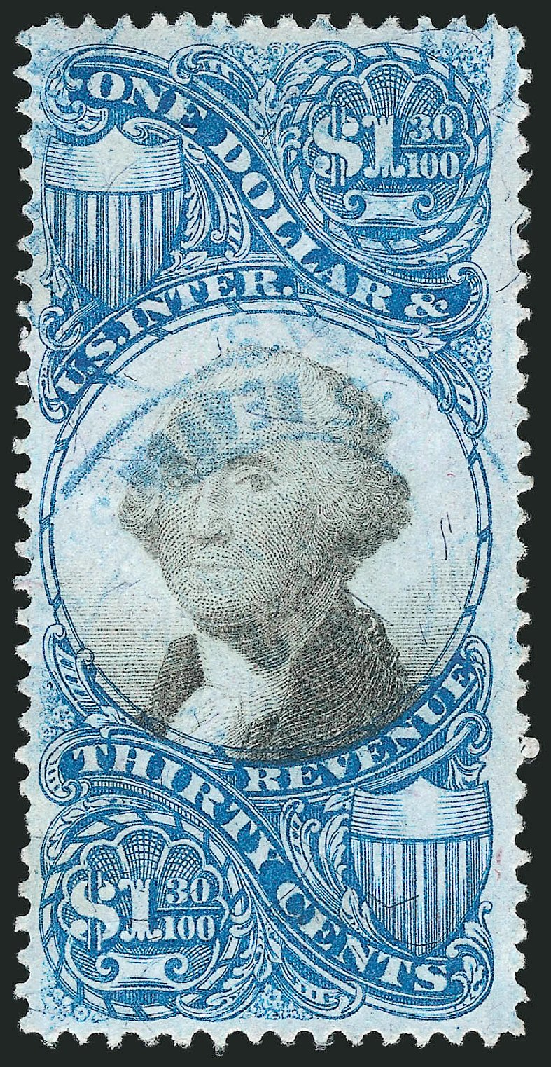 US Stamp Values Scott Catalog # R119: 1871 US$1.30 Revenue Documentary . Robert Siegel Auction Galleries, Apr 2015, Sale 1096, Lot 975