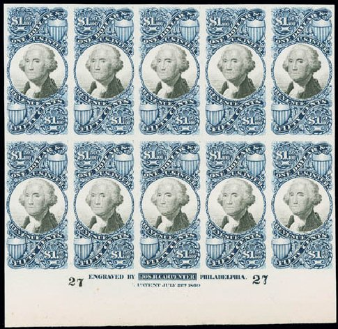 Price of US Stamp Scott Cat. #R120: 1871 US$1.50 Revenue Documentary . Matthew Bennett International, Jun 2008, Sale 328, Lot 1337