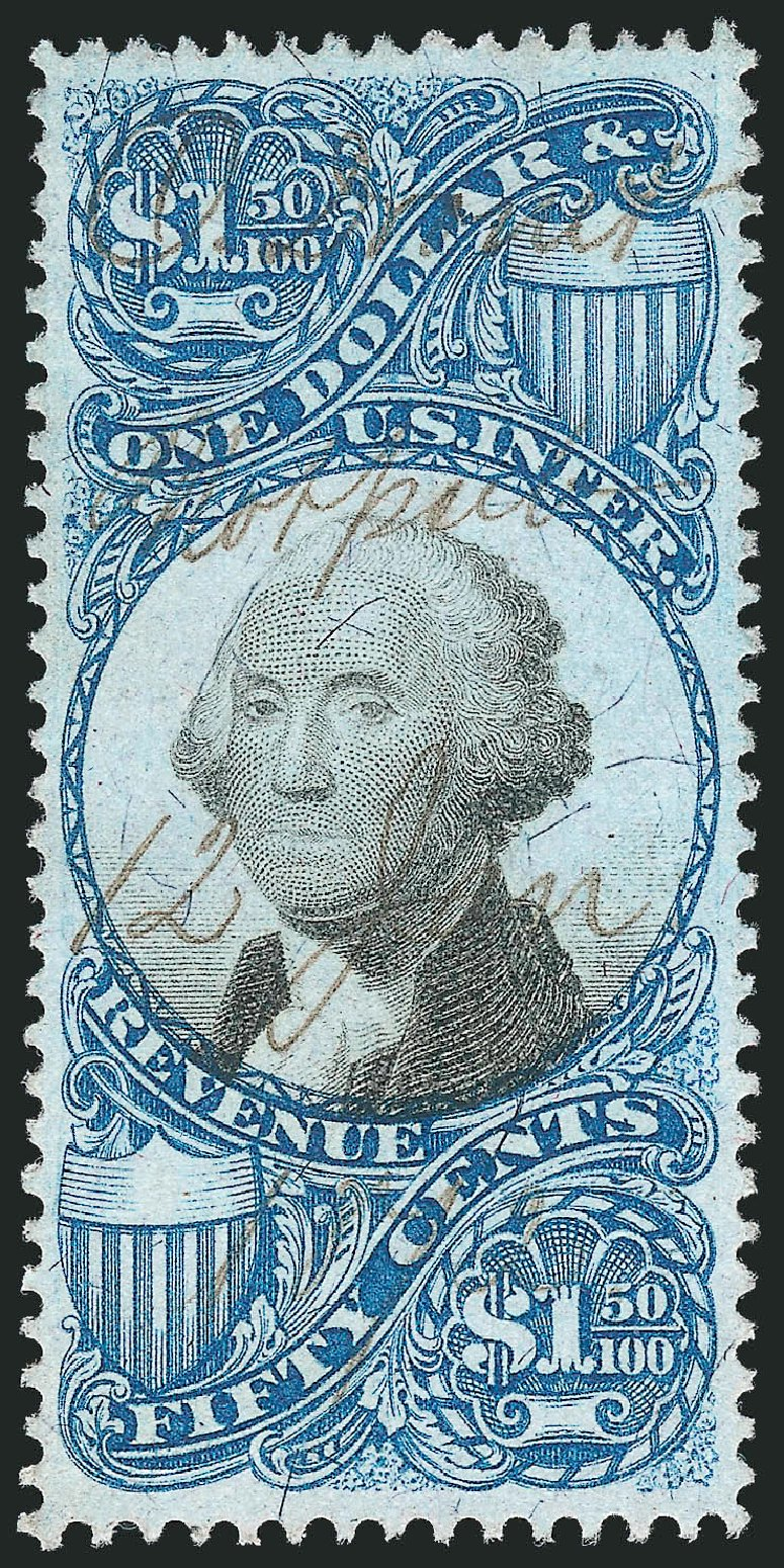 Price of US Stamp Scott Cat. R120 - 1871 US$1.50 Revenue Documentary . Robert Siegel Auction Galleries, Feb 2015, Sale 1092, Lot 1510