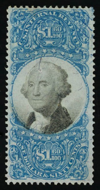 Costs of US Stamp Scott #R121 - US$1.60 1871 Revenue Documentary . Daniel Kelleher Auctions, Sep 2014, Sale 655, Lot 957