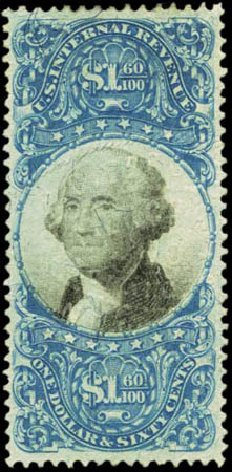 US Stamps Value Scott Cat. # R121 - 1871 US$1.60 Revenue Documentary . Harmer-Schau Auction Galleries, Feb 2012, Sale 92, Lot 1479