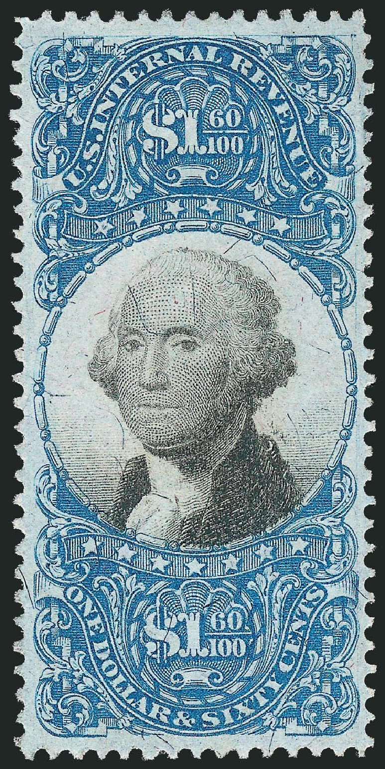 US Stamp Values Scott R121: US$1.60 1871 Revenue Documentary . Robert Siegel Auction Galleries, Mar 2014, Sale 1066, Lot 81