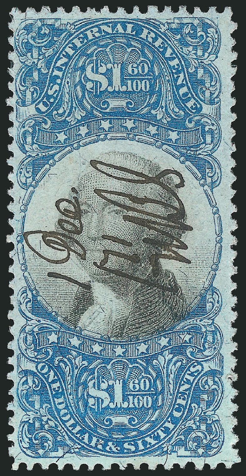 Cost of US Stamps Scott # R121: US$1.60 1871 Revenue Documentary . Robert Siegel Auction Galleries, Dec 2014, Sale 1089, Lot 465