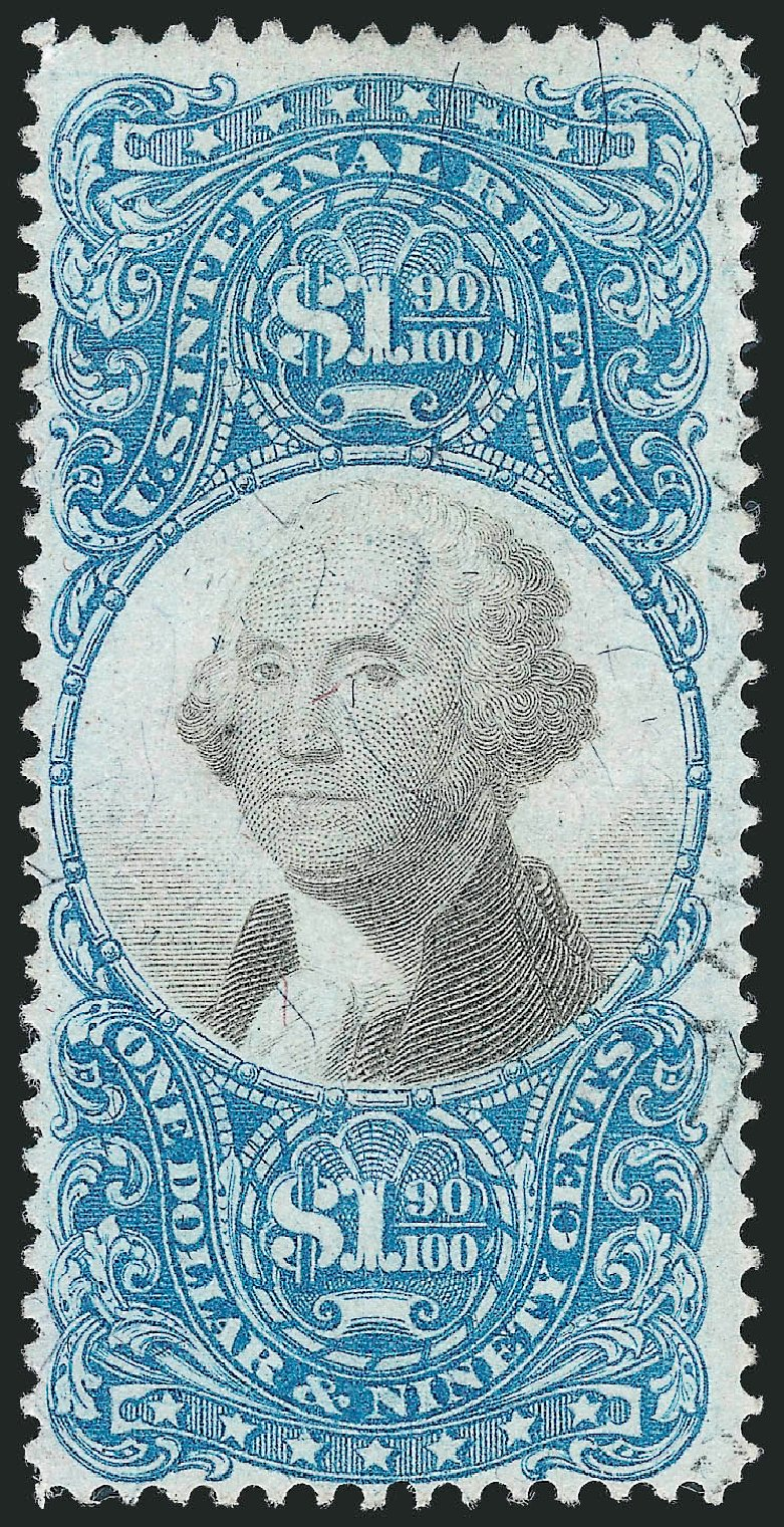 US Stamps Value Scott Catalog R122 - 1871 US$1.90 Revenue Documentary . Robert Siegel Auction Galleries, Oct 2012, Sale 1031, Lot 1038