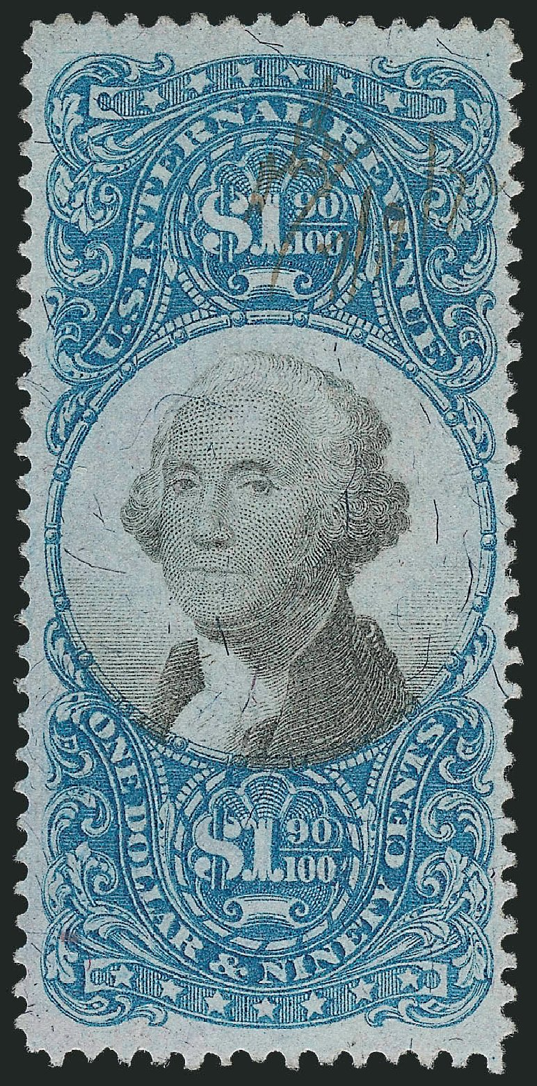 Value of US Stamp Scott Catalogue #R122 - 1871 US$1.90 Revenue Documentary . Robert Siegel Auction Galleries, Mar 2014, Sale 1066, Lot 82