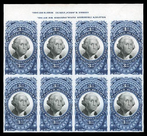 US Stamp Value Scott Catalogue R126 - US$3.50 1871 Revenue Documentary . Matthew Bennett International, Mar 2011, Sale 337, Lot 3292