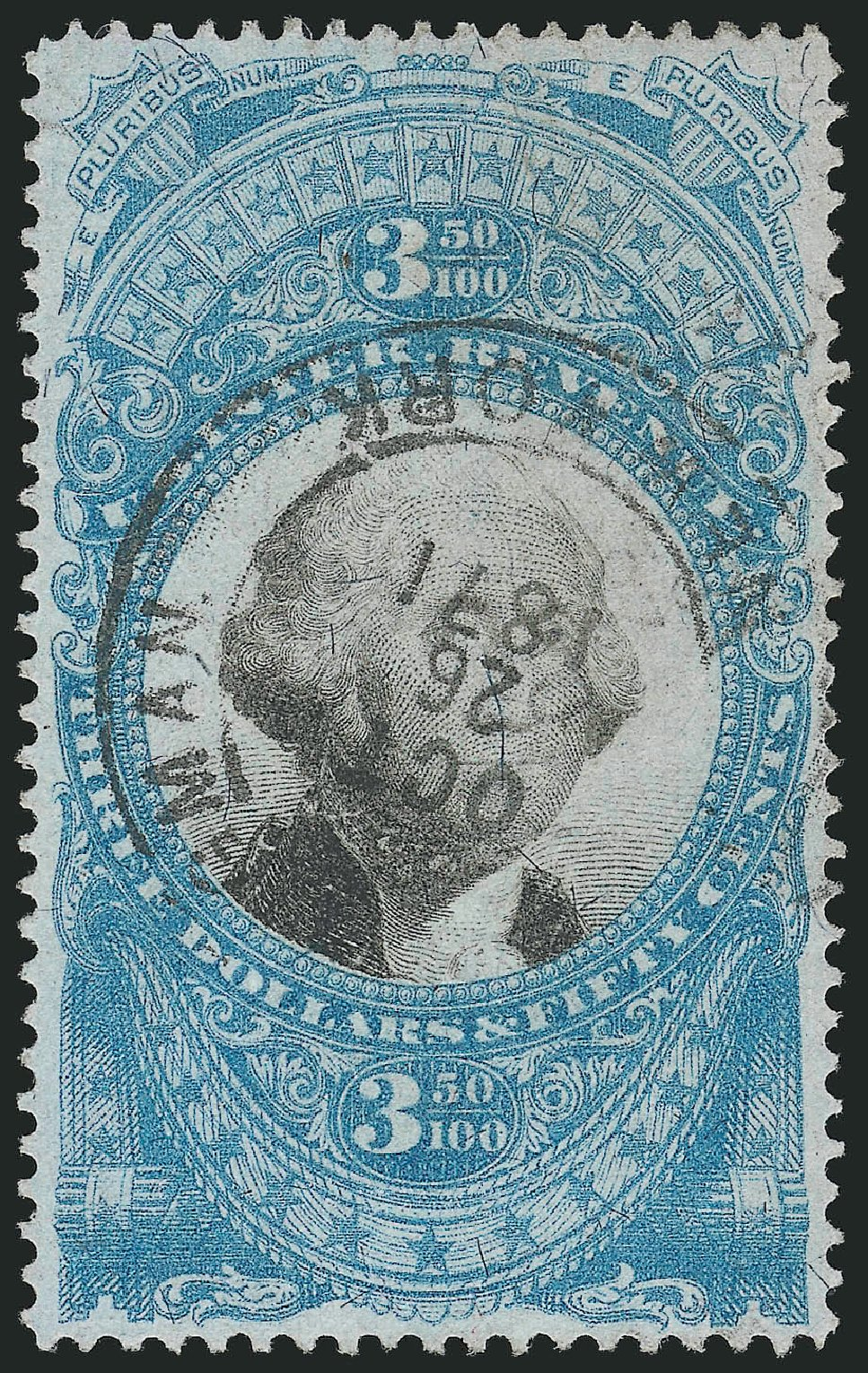 Cost of US Stamp Scott Cat. R126 - US$3.50 1871 Revenue Documentary . Robert Siegel Auction Galleries, Mar 2014, Sale 1066, Lot 83