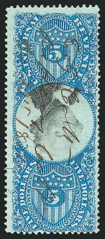 Cost of US Stamp Scott Cat. R127: 1871 US$5.00 Revenue Documentary . Robert Siegel Auction Galleries, Mar 2011, Sale 1007, Lot 3128