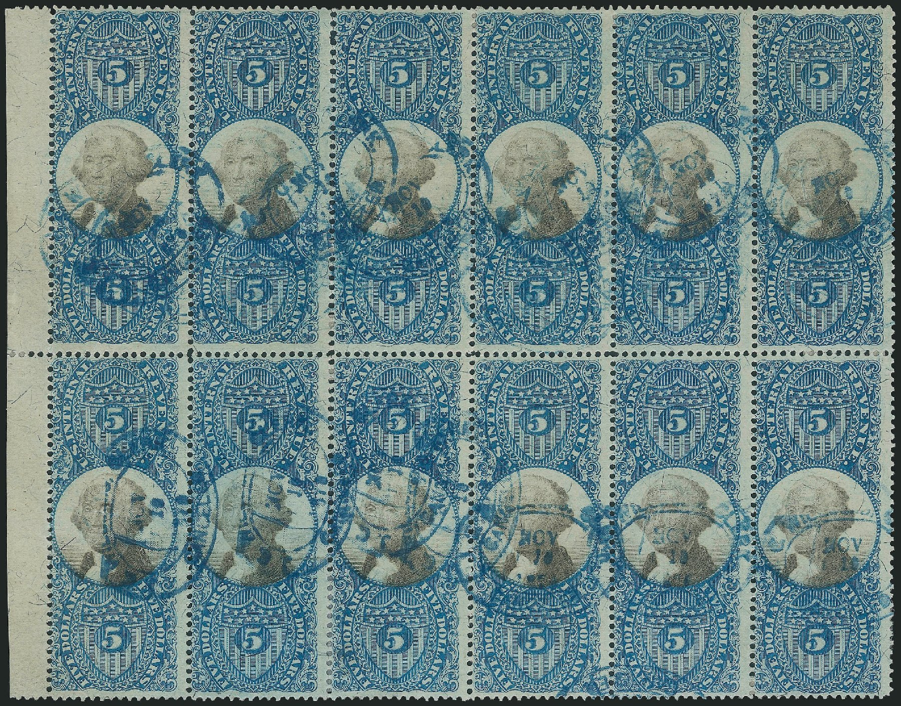US Stamp Value Scott Catalog R127: US$5.00 1871 Revenue Documentary . Robert Siegel Auction Galleries, Dec 2014, Sale 1089, Lot 503