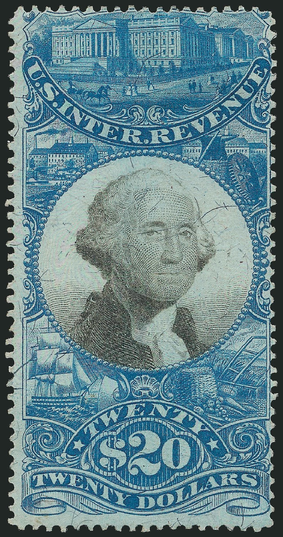 US Stamp Value Scott Cat. R129: US$20.00 1871 Revenue Documentary . Robert Siegel Auction Galleries, Dec 2014, Sale 1089, Lot 467