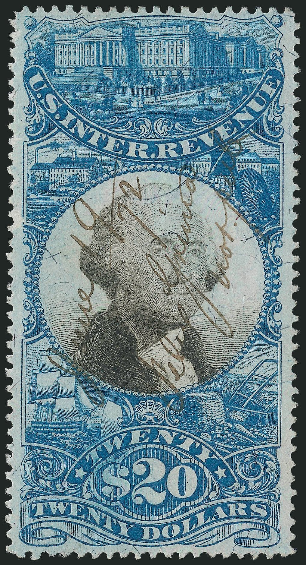 Costs of US Stamp Scott Catalog #R129: US$20.00 1871 Revenue Documentary . Robert Siegel Auction Galleries, Dec 2014, Sale 1089, Lot 468