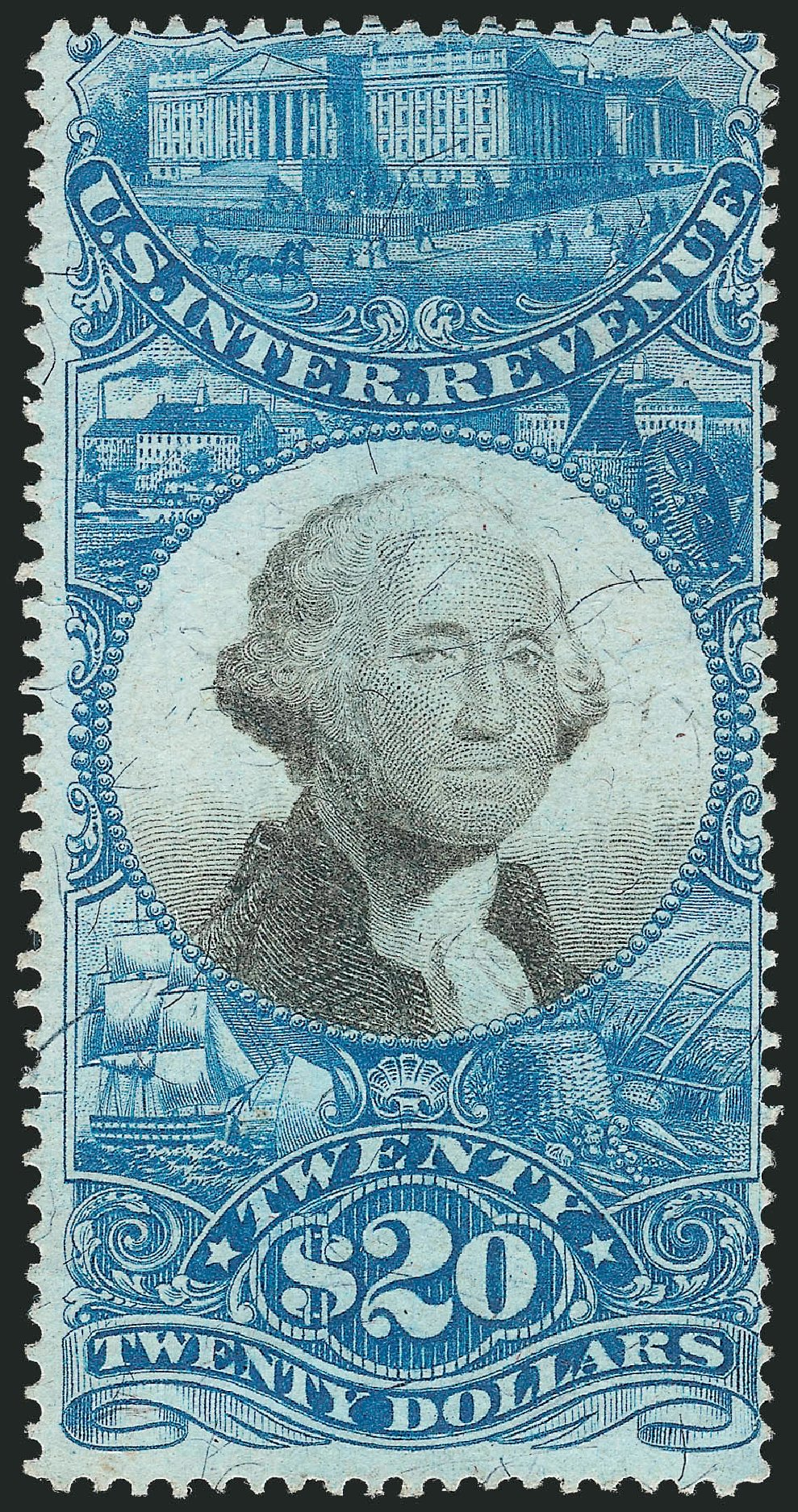 US Stamp Value Scott Catalog # R129 - 1871 US$20.00 Revenue Documentary . Robert Siegel Auction Galleries, Oct 2012, Sale 1031, Lot 1039