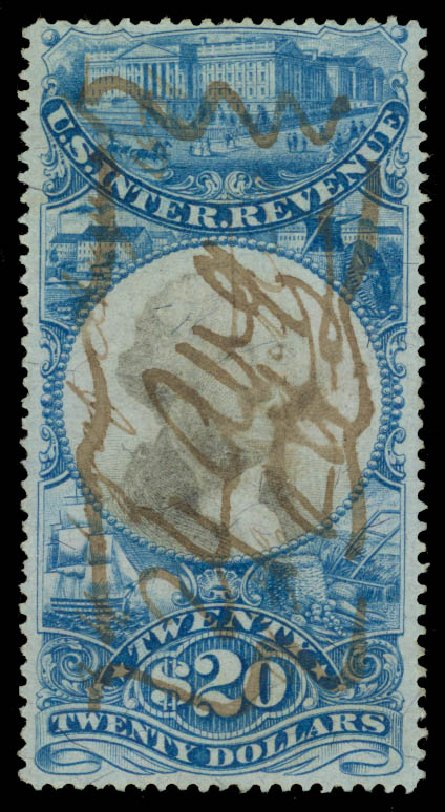 Price of US Stamp Scott Catalogue # R129: US$20.00 1871 Revenue Documentary . Daniel Kelleher Auctions, May 2015, Sale 665, Lot 175