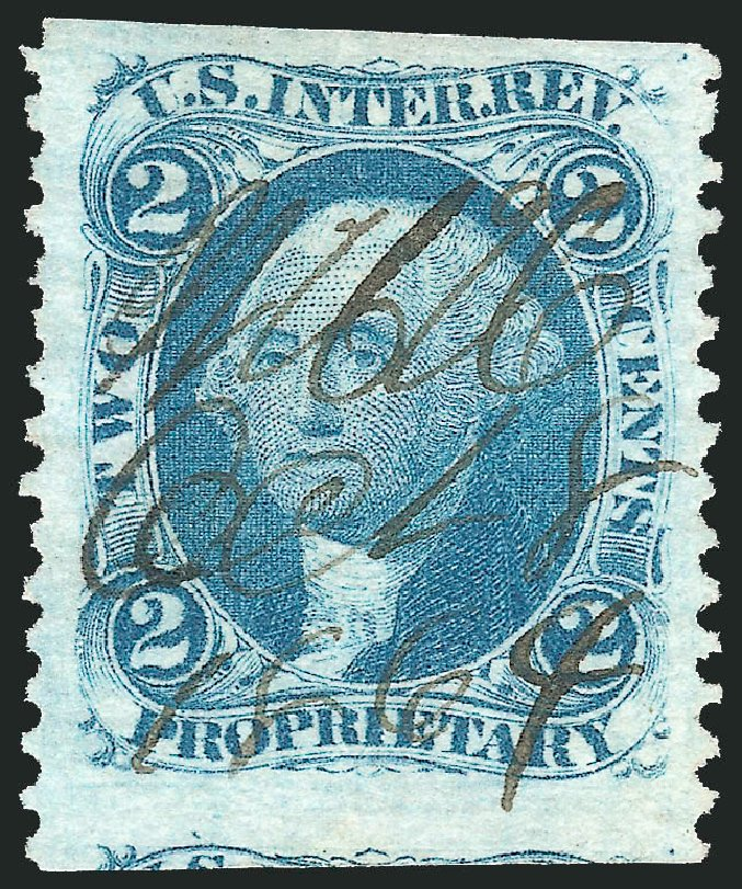 US Stamps Value Scott Cat. #R13 - 2c 1862 Revenue Proprietary. Robert Siegel Auction Galleries, Mar 2014, Sale 1066, Lot 47