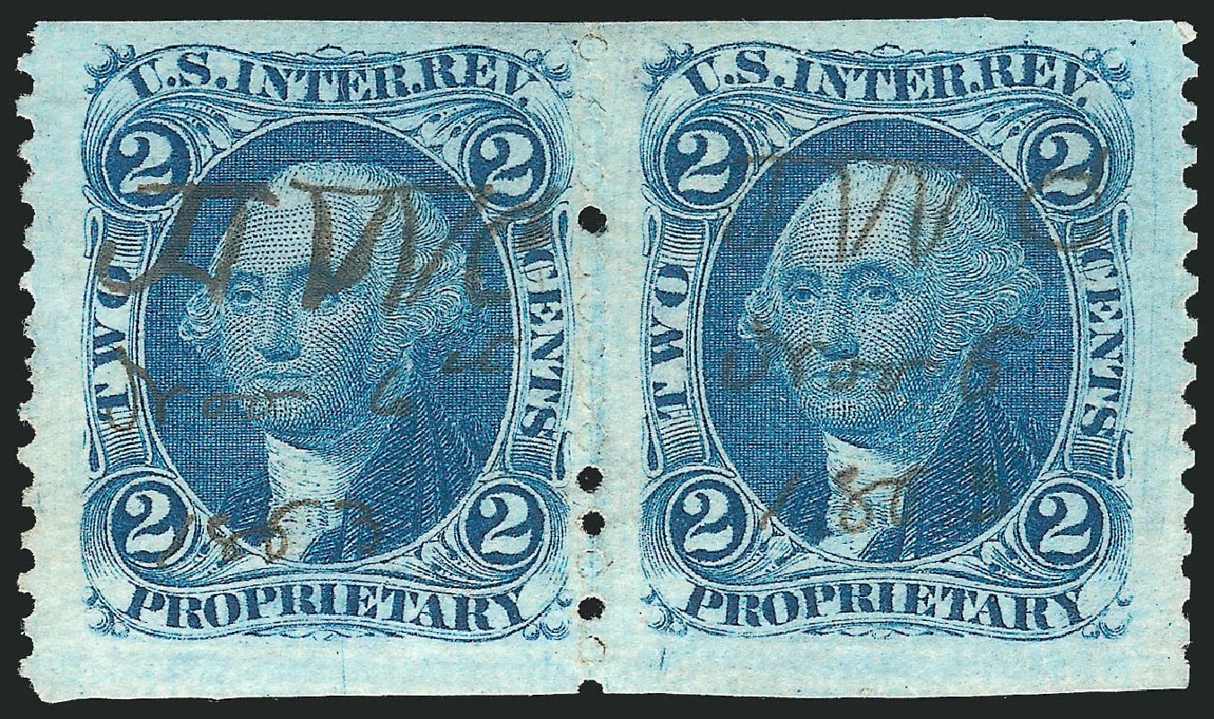 US Stamps Prices Scott Catalogue #R13 - 2c 1862 Revenue Proprietary. Robert Siegel Auction Galleries, Dec 2014, Sale 1089, Lot 287