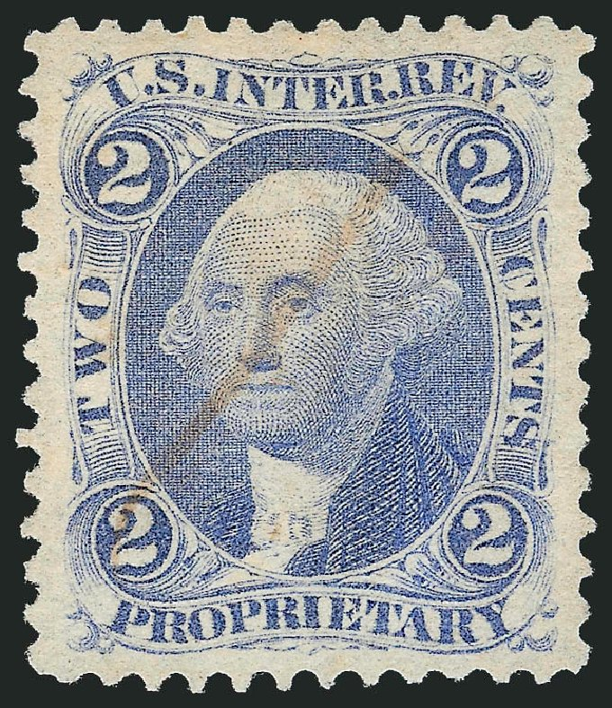 US Stamps Prices Scott # R13: 2c 1862 Revenue Proprietary. Robert Siegel Auction Galleries, Mar 2014, Sale 1066, Lot 58