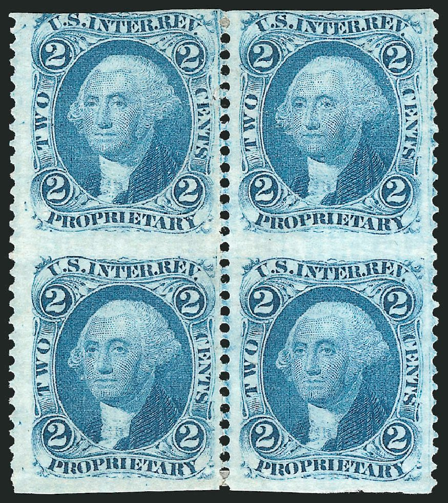 Cost of US Stamp Scott Catalog # R13 - 1862 2c Revenue Proprietary. Robert Siegel Auction Galleries, Dec 2014, Sale 1089, Lot 390