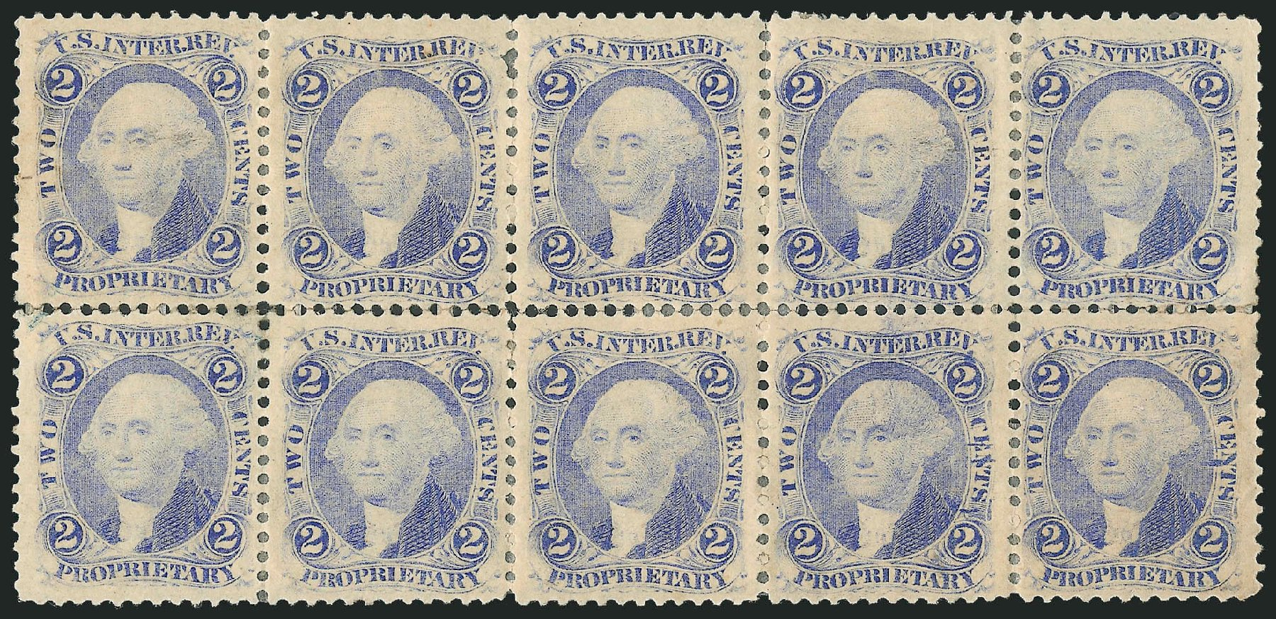 US Stamps Price Scott Cat. R13: 1862 2c Revenue Proprietary. Robert Siegel Auction Galleries, Jun 2015, Sale 1100, Lot 140