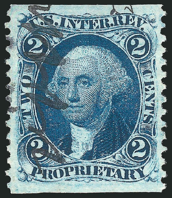 Price of US Stamp Scott Catalogue # R13 - 1862 2c Revenue Proprietary. Robert Siegel Auction Galleries, Mar 2014, Sale 1067, Lot 521