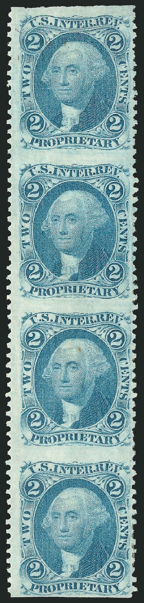 US Stamp Values Scott Catalog # R13 - 1862 2c Revenue Proprietary. Robert Siegel Auction Galleries, Dec 2014, Sale 1089, Lot 391