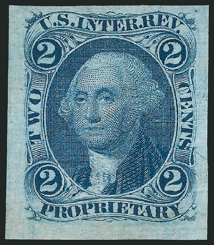 Costs of US Stamp Scott Catalogue R13: 2c 1862 Revenue Proprietary. Robert Siegel Auction Galleries, Nov 2011, Sale 1015, Lot 5