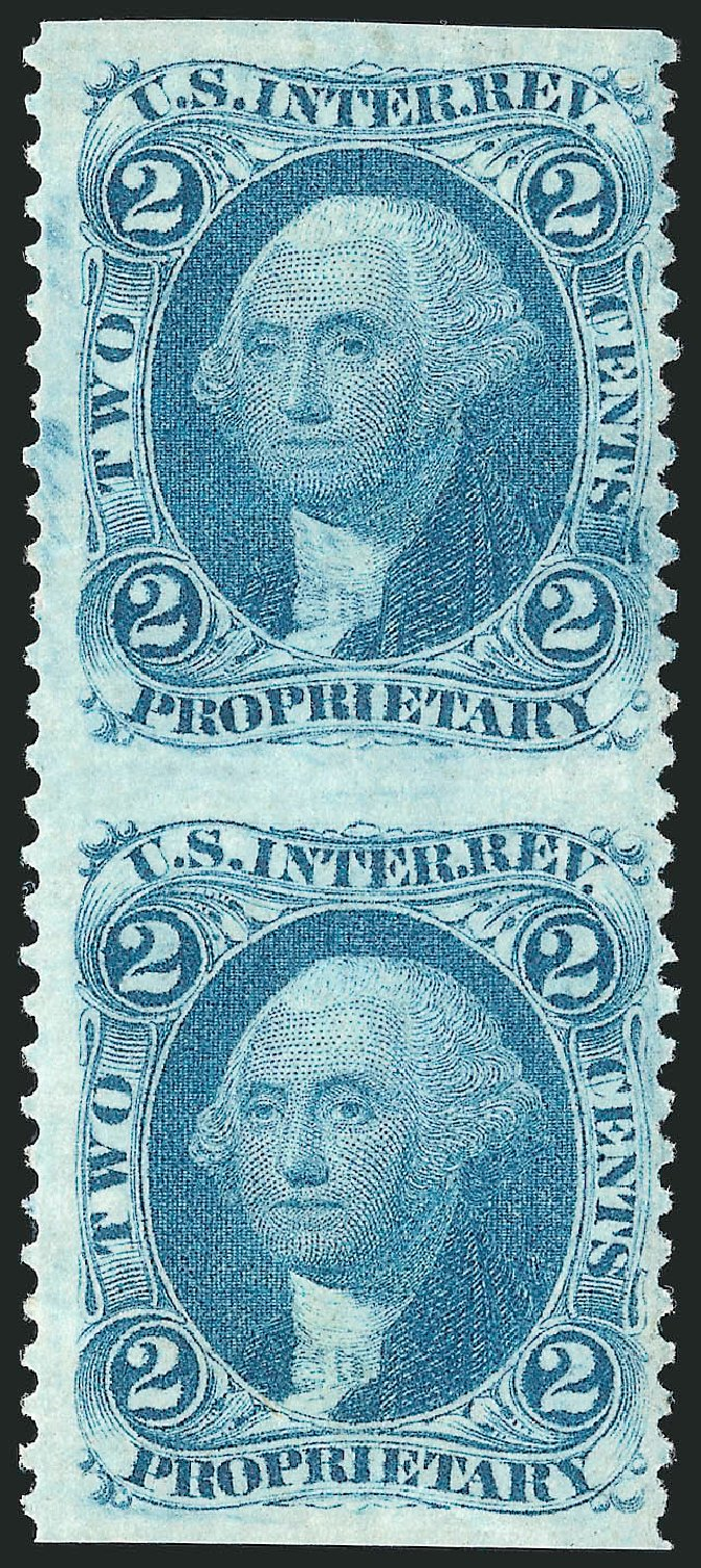 Value of US Stamp Scott Cat. # R13 - 2c 1862 Revenue Proprietary. Robert Siegel Auction Galleries, Dec 2014, Sale 1089, Lot 285