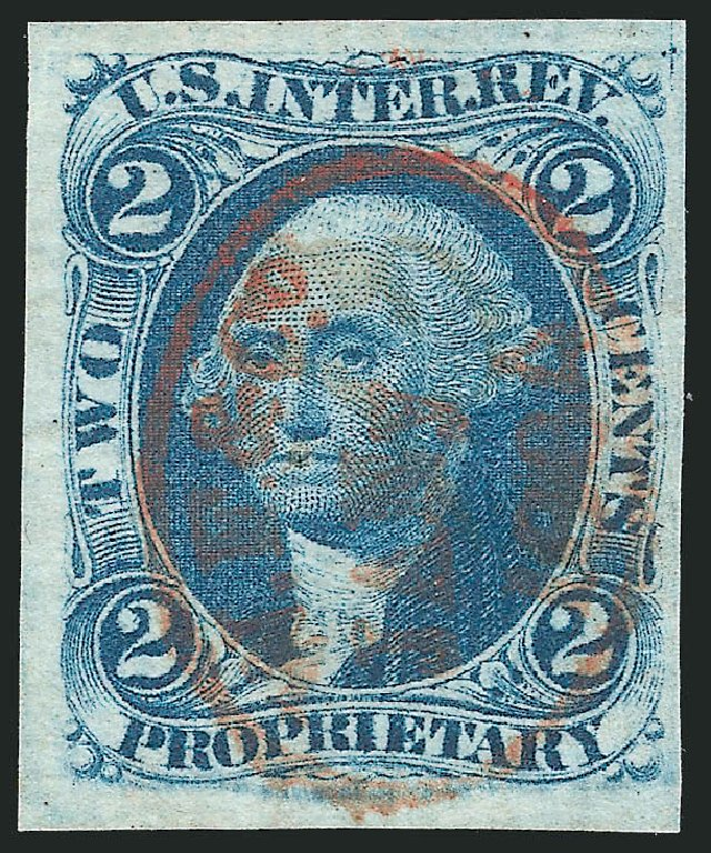 Price of US Stamp Scott Catalogue R13: 1862 2c Revenue Proprietary. Robert Siegel Auction Galleries, Dec 2014, Sale 1089, Lot 212