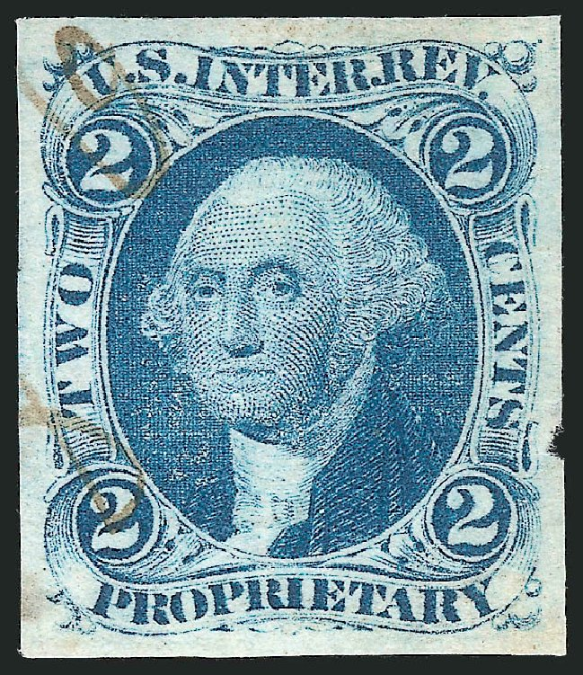 US Stamp Values Scott #R13 - 2c 1862 Revenue Proprietary. Robert Siegel Auction Galleries, Oct 2012, Sale 1031, Lot 1003