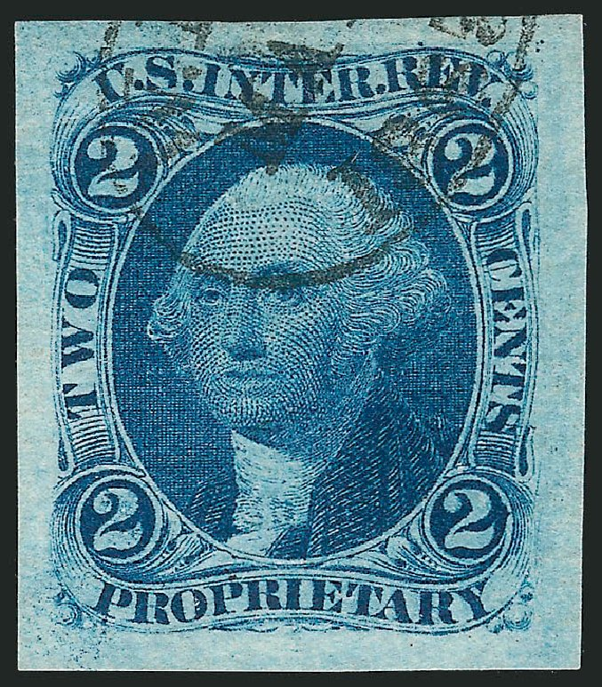Values of US Stamp Scott Catalog # R13 - 1862 2c Revenue Proprietary. Robert Siegel Auction Galleries, Mar 2014, Sale 1066, Lot 6