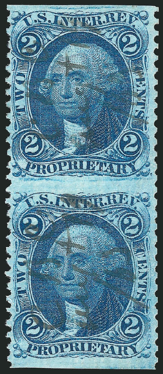 Costs of US Stamps Scott # R13: 1862 2c Revenue Proprietary. Robert Siegel Auction Galleries, Dec 2014, Sale 1089, Lot 286
