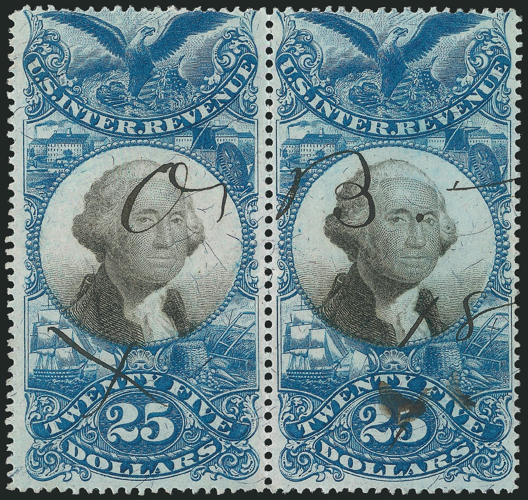 Price of US Stamps Scott # R130: US$25.00 1871 Revenue Documentary . Robert Siegel Auction Galleries, Dec 2014, Sale 1089, Lot 507