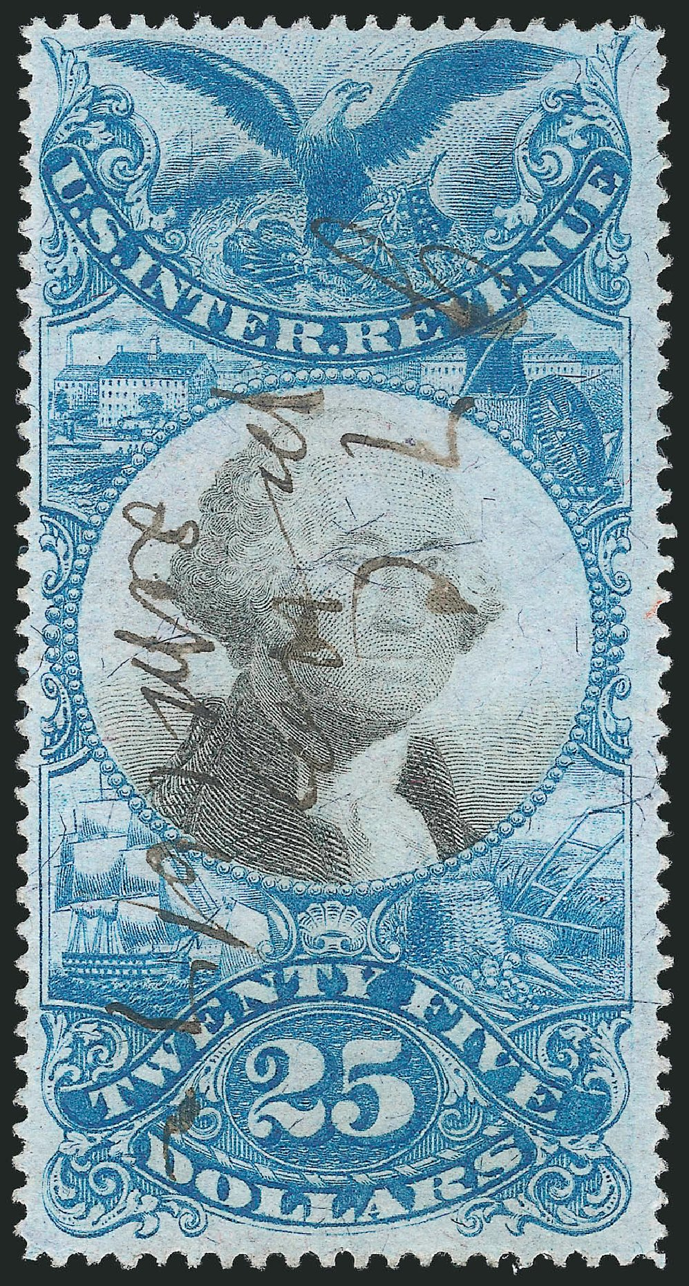 Value of US Stamp Scott #R130 - 1871 US$25.00 Revenue Documentary . Robert Siegel Auction Galleries, Mar 2014, Sale 1066, Lot 86