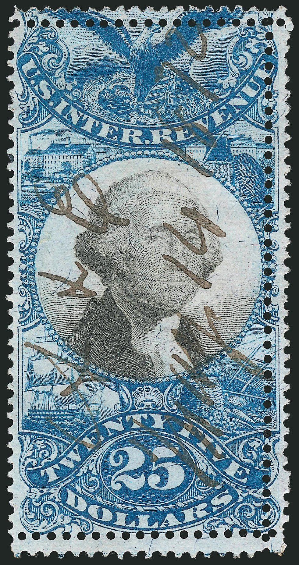 US Stamps Value Scott Catalog R130 - US$25.00 1871 Revenue Documentary . Robert Siegel Auction Galleries, Apr 2015, Sale 1096, Lot 976