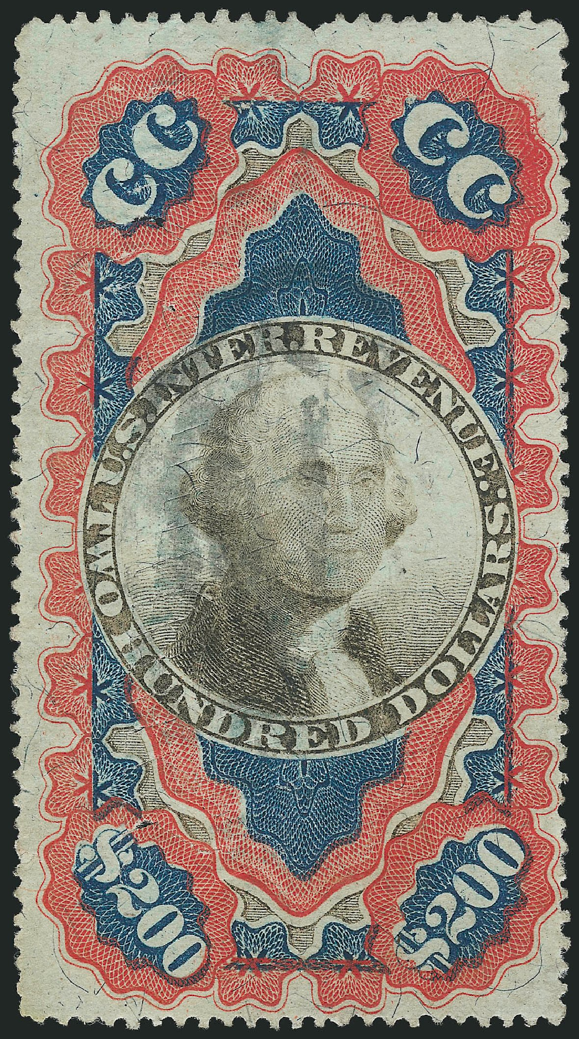 Value of US Stamp Scott Cat. R132 - US$200.00 1871 Revenue Documentary . Robert Siegel Auction Galleries, Apr 2015, Sale 1096, Lot 977