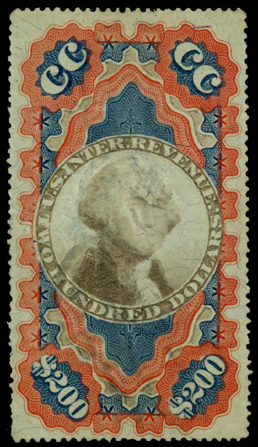 Costs of US Stamp Scott Catalog R132 - US$200.00 1871 Revenue Documentary . Daniel Kelleher Auctions, Oct 2014, Sale 660, Lot 2579
