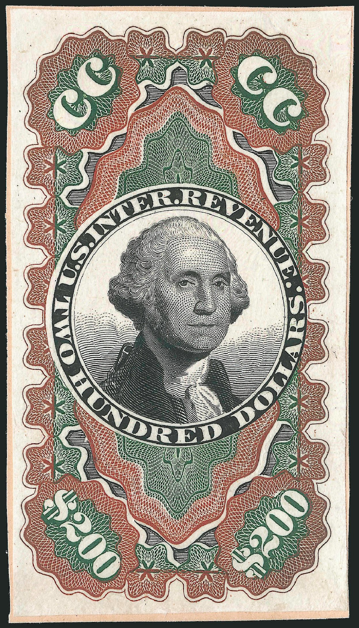 Prices of US Stamp Scott Cat. R132: US$200.00 1871 Revenue Documentary . Robert Siegel Auction Galleries, Dec 2014, Sale 1089, Lot 471